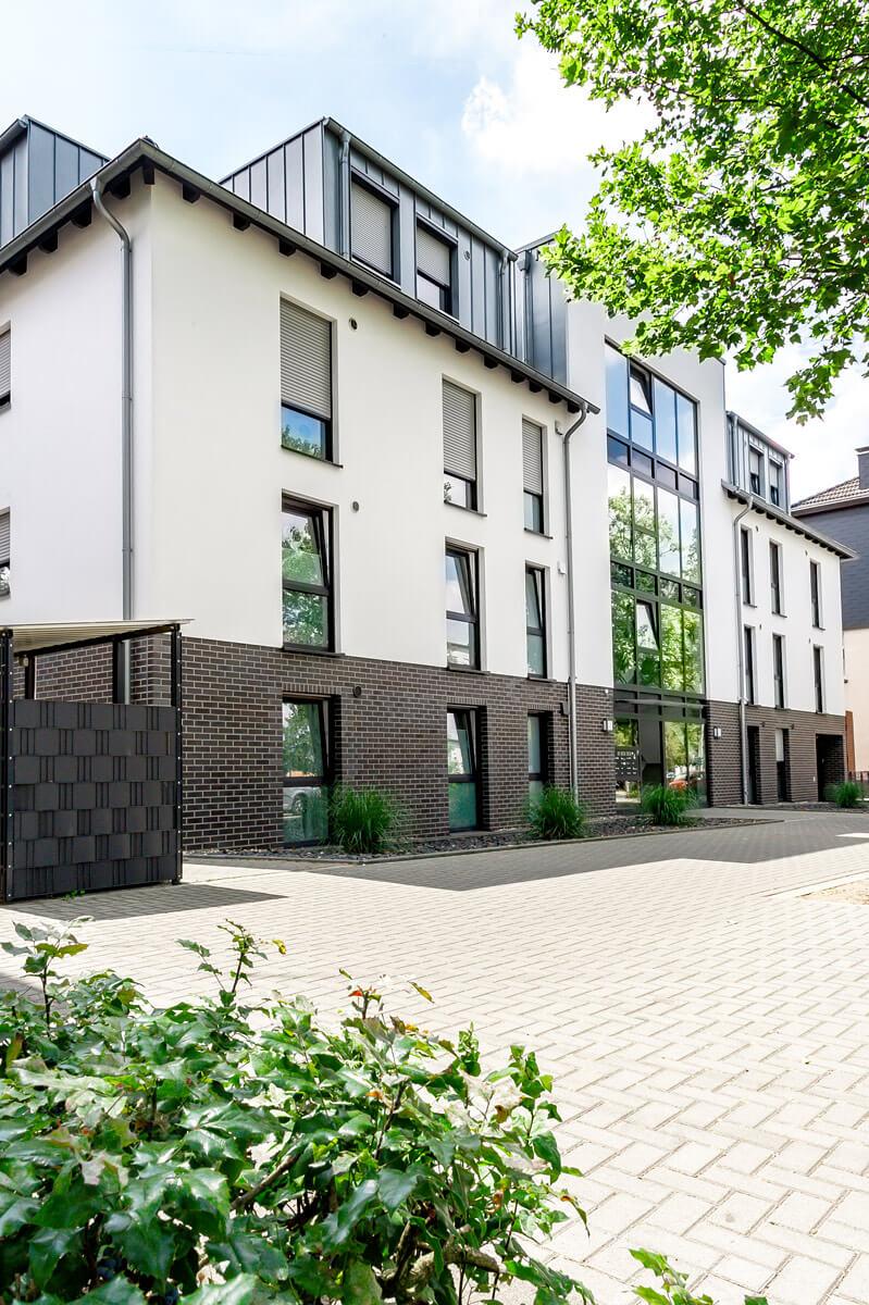 Hofansicht Mehrfamilienhaus mit Tiefgarage-Recklinghausen Blitzkuhlenstraße Hubert Milte