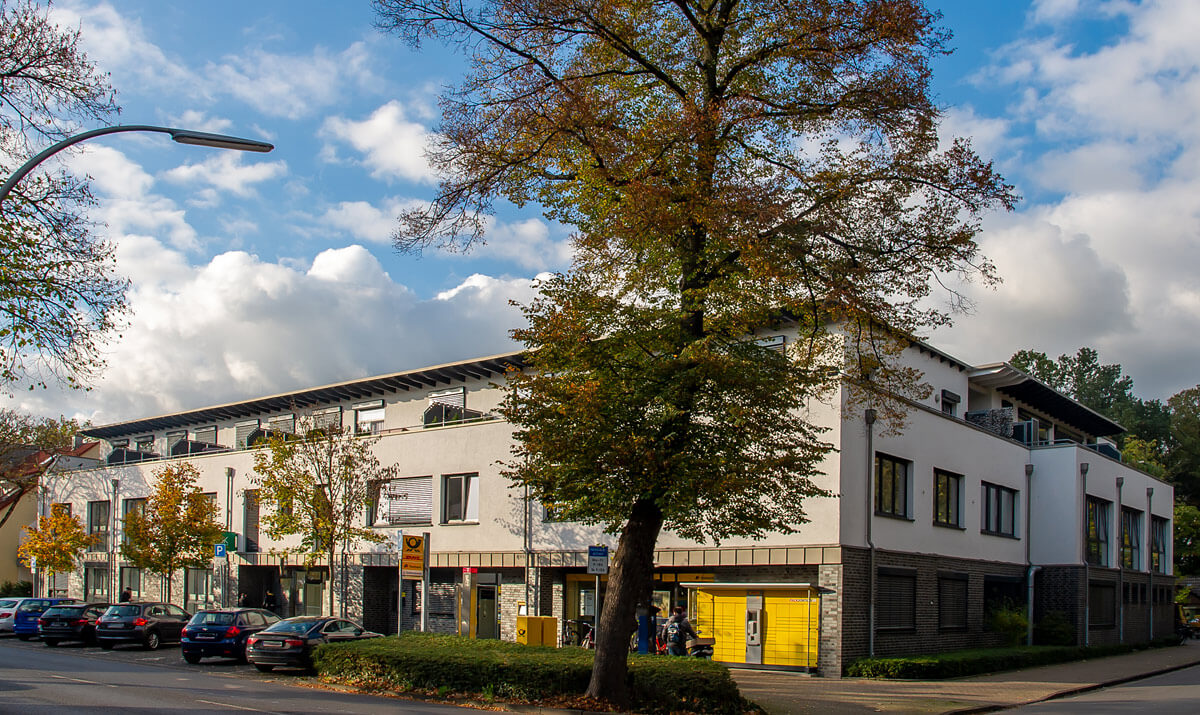 Wohn- und Geschäftshaus, Ecke Hafenstraße 1 und Genthiner Straße 5 in Datteln,